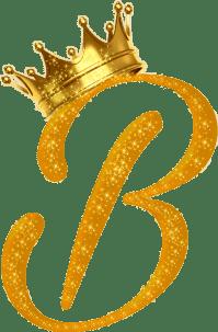 letters letter b gold crown royal...