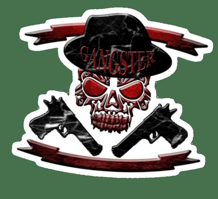 skulls skull guns sticker