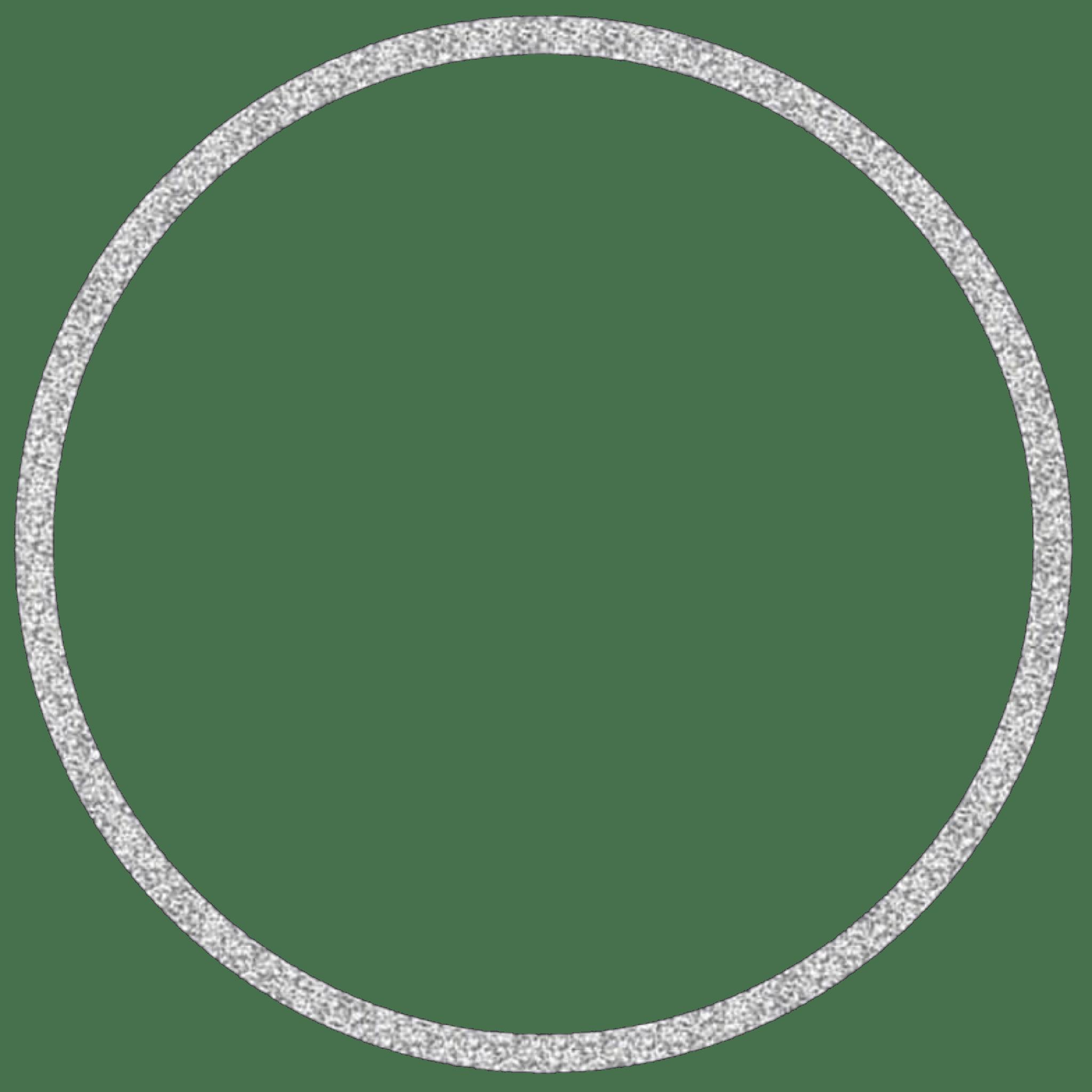 Circle Silver Silvercircle Glitter Frame Circleframe