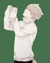 anime wolfboy animewolf snow Sticker by ˢᴬᵞᵁᴿᴵ