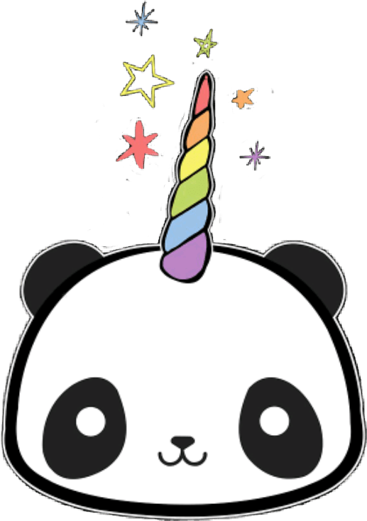 Cute Japanese Wallpaper For Android Pandacorn Panda Sticker By 🖤༺ⵕᥙᥱᥱᥒ༻💜
