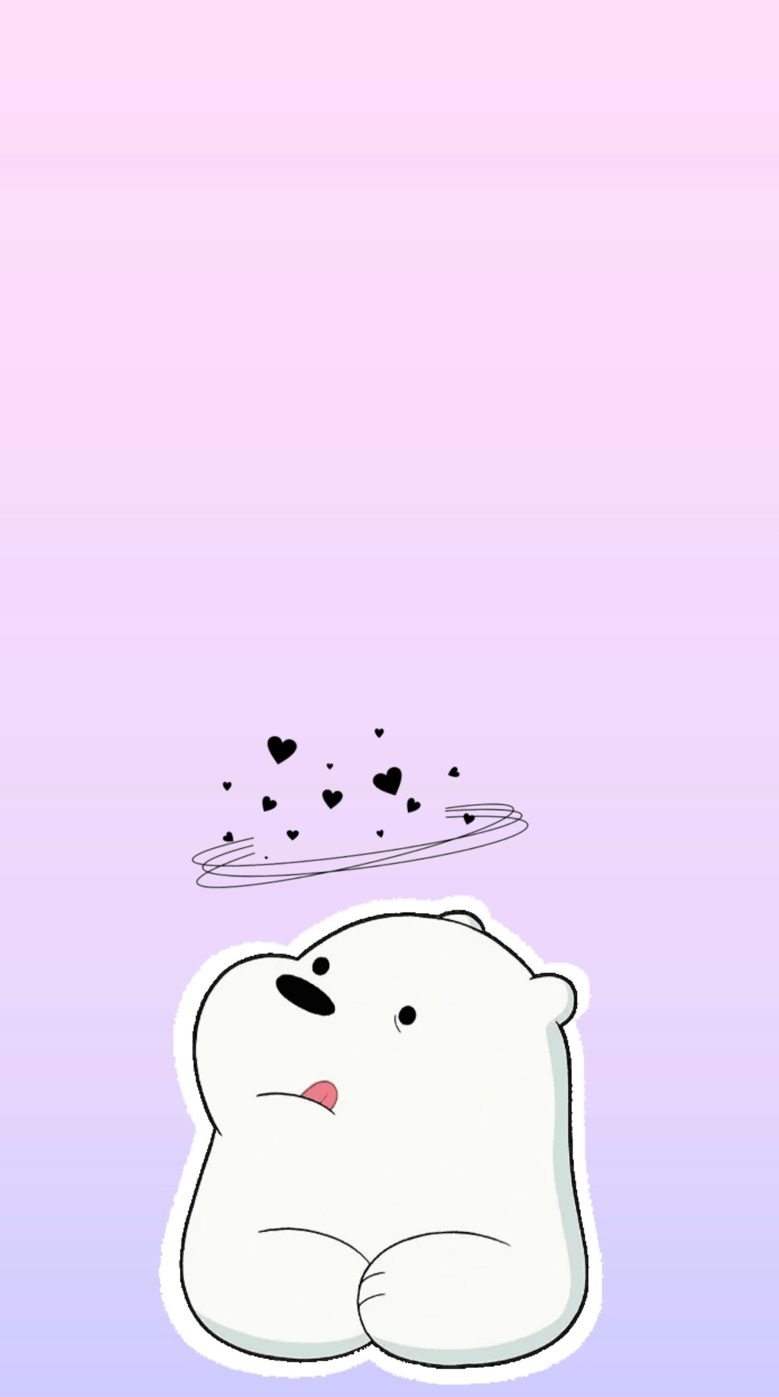 Cute Drawing Polar Bear Wallpaper Android We Bare Bears Ice Bear Iphone Wallpaper ️ Webearbear