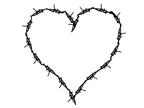 heart wire black edgy goth aesthetic freetoedit...