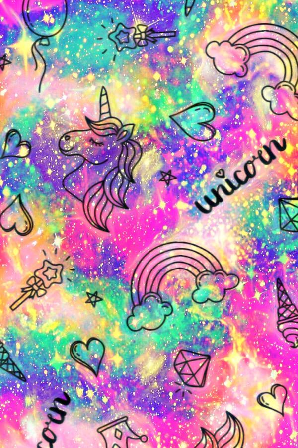 Galaxy Rainbow Glitter Wallpaper : galaxy, rainbow, glitter, wallpaper, Galaxy, Glitter, Rainbow, Wallpaper, Unicorn