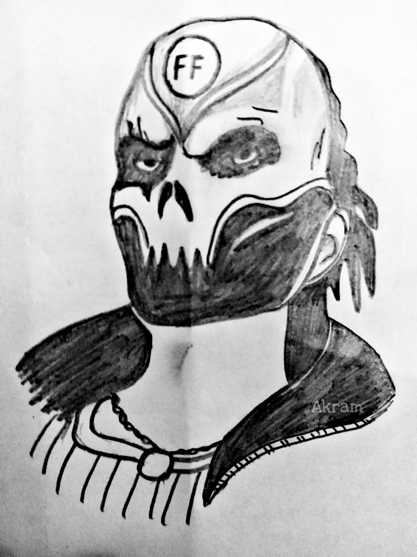 Skull Mask Drawing : skull, drawing, Skull, Learn