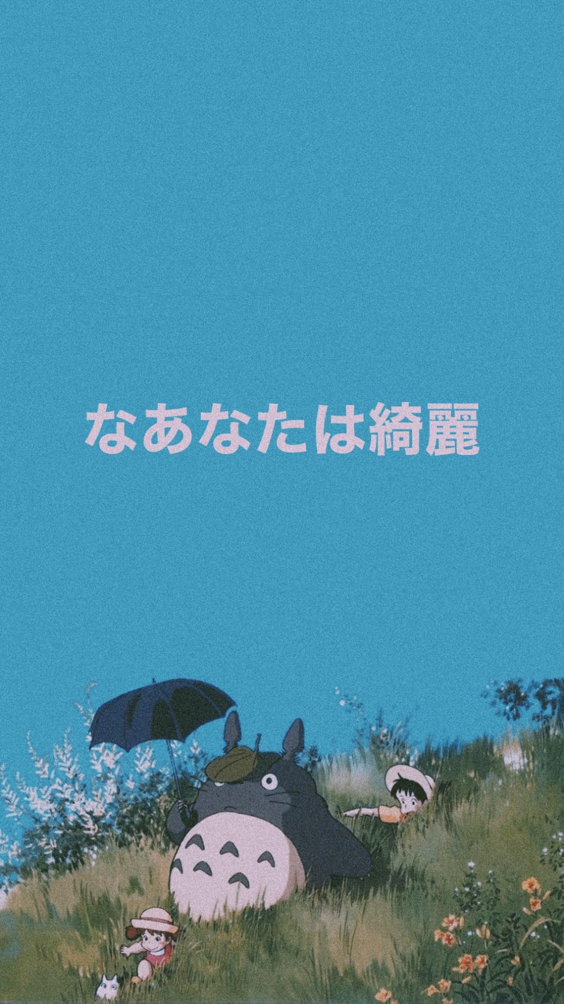 Aesthetic Wallpaper Iphone Totoro Image By Xbrazenx