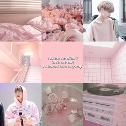 aesthetic pink pastel mark got7 collage picsart wallpapers requested kpop backgrounds sign