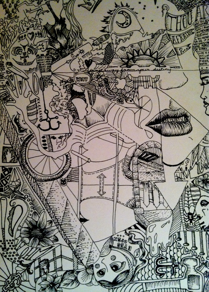 Trippy Pencil Drawings Name