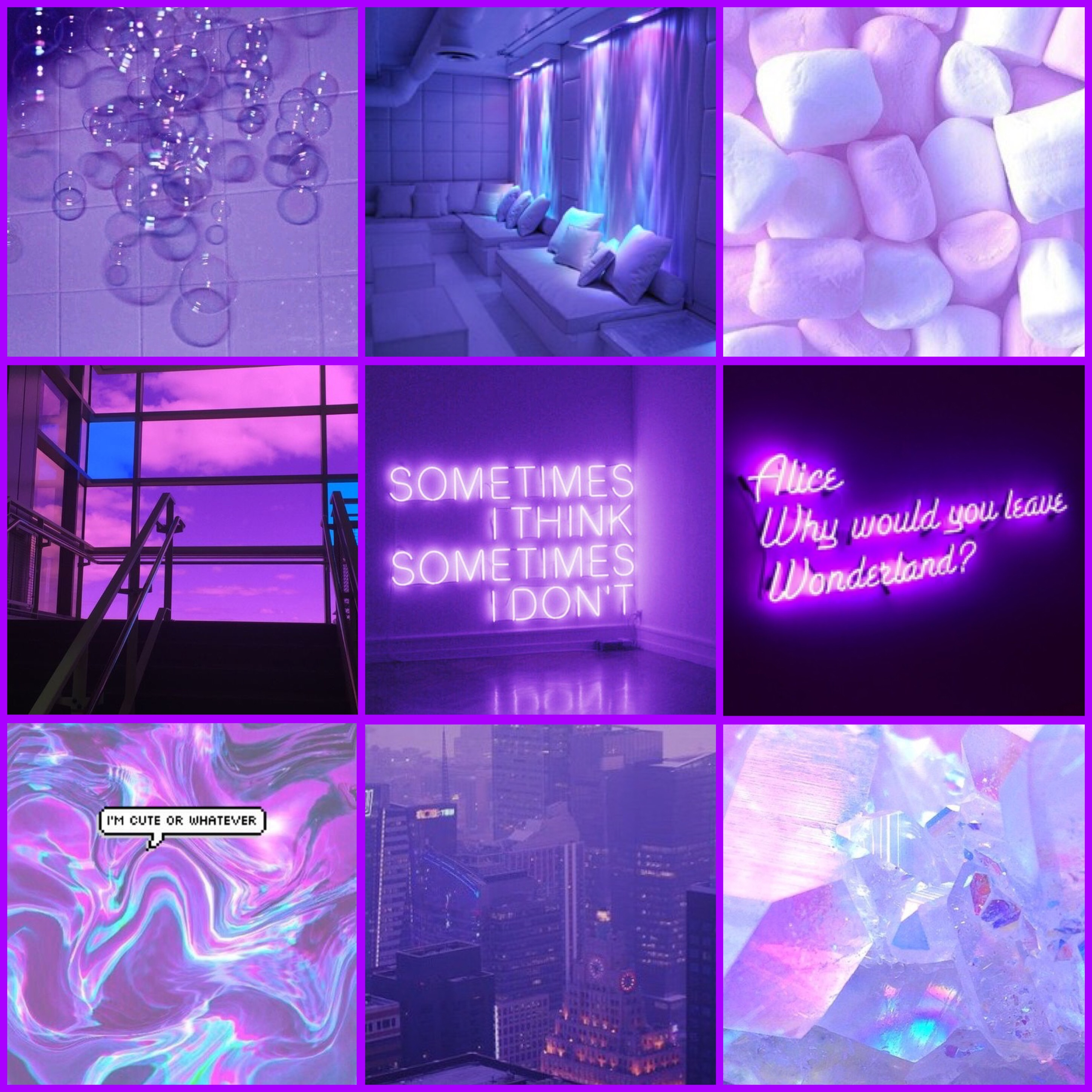 Tons of awesome purple aesthetic collage wallpapers to download for free. FreeToEdit aesthetic purple grid collage edit edits pic...