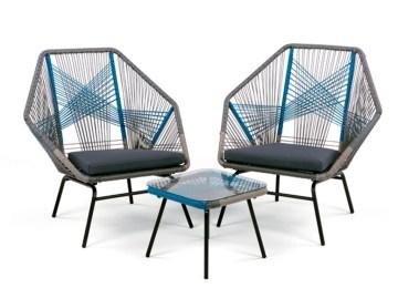 Salon De Jardin Metal Design | Table De Jardin Et Chaises ...