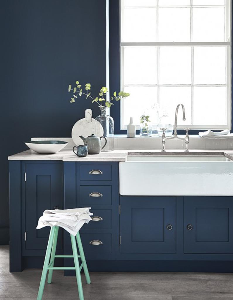 Meubles cuisine bleu gris id es de d coration d 39 int rieur - Meuble cuisine bleu ...