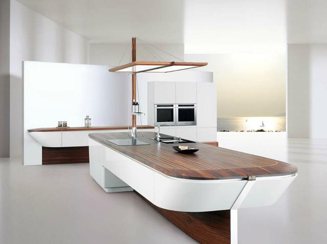 Une cuisine design pour un intrieur contemporain  Elle