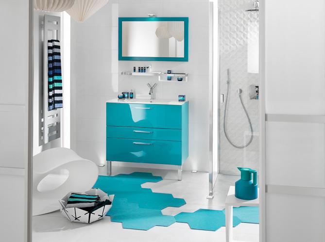 20 Salles De Bains Colores Elle Dcoration