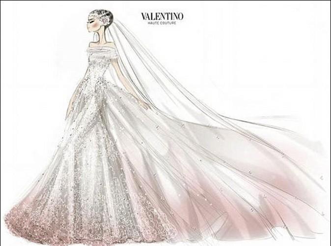 Anne Hathaway  dcouvrez le croquis de sa robe de marie