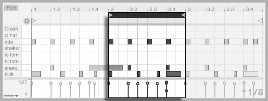 Editing MIDI Notes and Velocities — Ableton Reference
