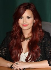 red hairstyles thick hair