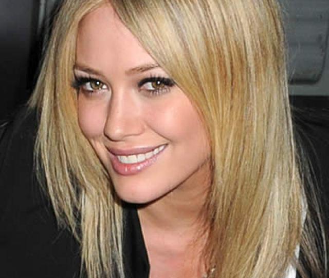 Hilary Duff Chic Straight Hairstyle For Medium Length Hair