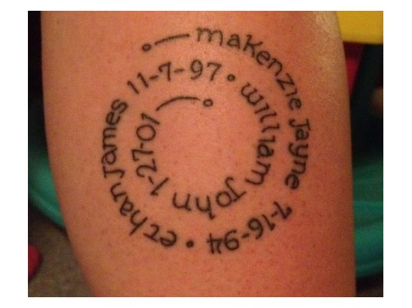20 Circle Tattoos With Names Ideas And Designs