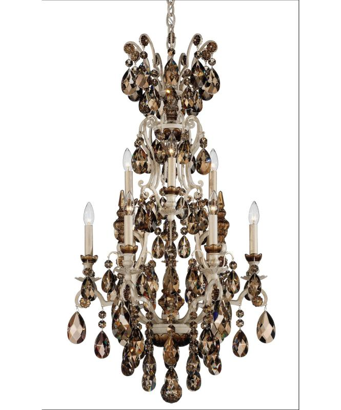 Shown In French Provincial Finish With Swarovski Elements Golden Teak Crystal