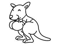 Disegno di Boxing canguro da Colorare