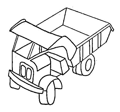 Disegno Di Camion Da Carico Da Colorare