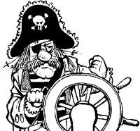 Disegno di Capitano dei pirati da Colorare