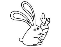 Disegno di Coniglio con carota da Colorare - Acolore.com