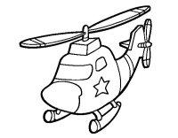 Disegno di Elicottero con una stella da Colorare - Acolore.com