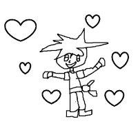 Disegno di Goku amore da Colorare - Acolore.com