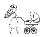 Disegno di Mamma con passeggino da Colorare - Acolore.com