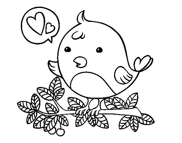 Disegno di Twitter uccello da Colorare