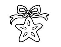 Disegno di Una stella natalizia da Colorare - Acolore.com