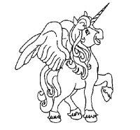 Disegno di Unicorno con le ali da Colorare - Acolore.com