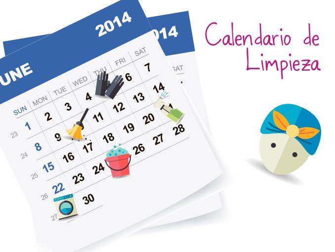 Calendario de limpieza  ActitudFem