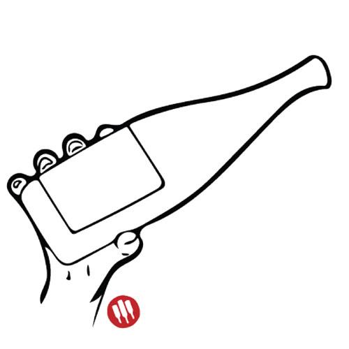 Como sostener una botella de vino