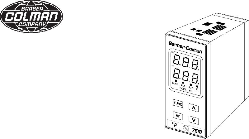 Barber-Colman 7EM Temperature Controller Instruction