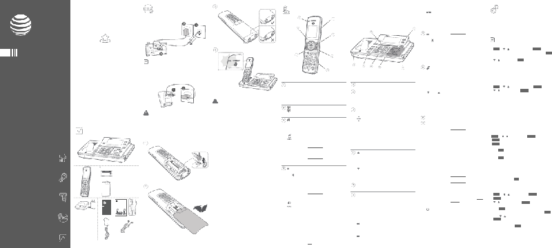 AT&T CLP99587 Cordless Telephone Quick start manual PDF