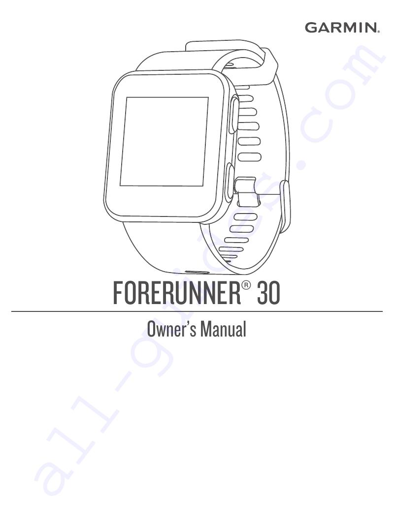 Garmin Forerunner 30 Watch Owner's manual PDF View/Download
