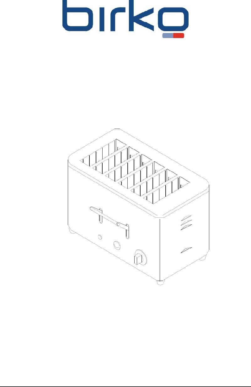 Birko 1003203 Toaster Operation manual PDF View/Download