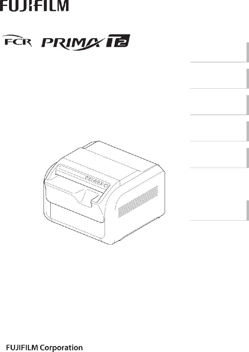 FujiFilm CR-IR 392 Medical Equipment Operation manual PDF