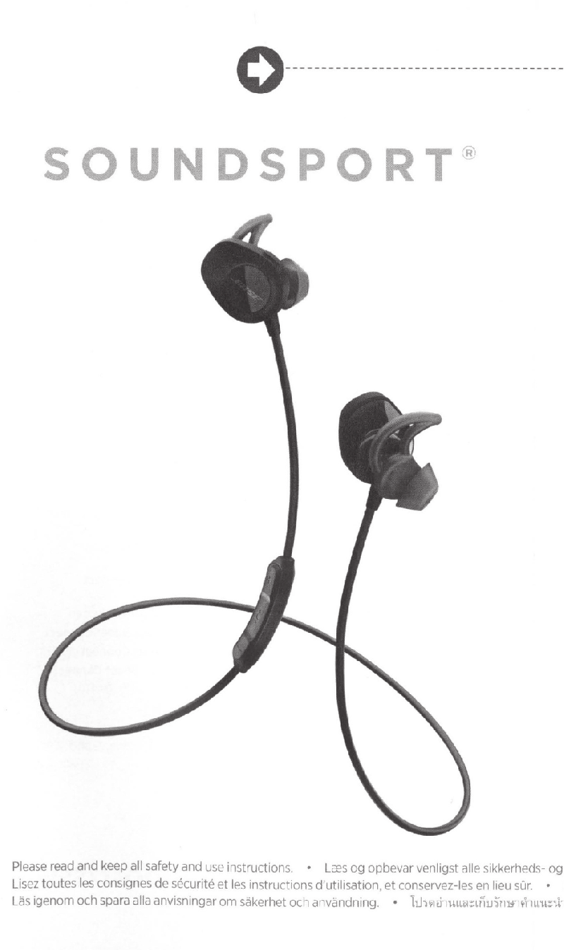 Bose SoundSport Wireless Headphones Instructions manual