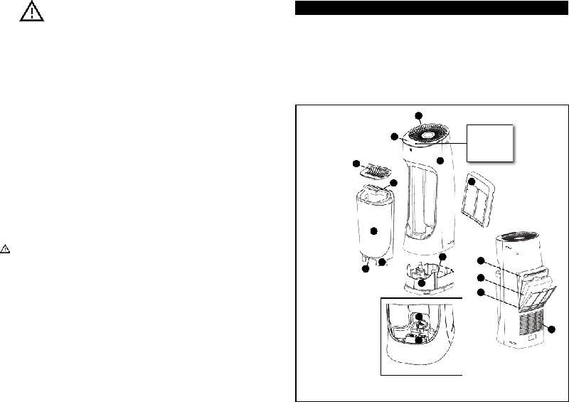 Honeywell HEV620 Humidifier Instruction manual PDF View