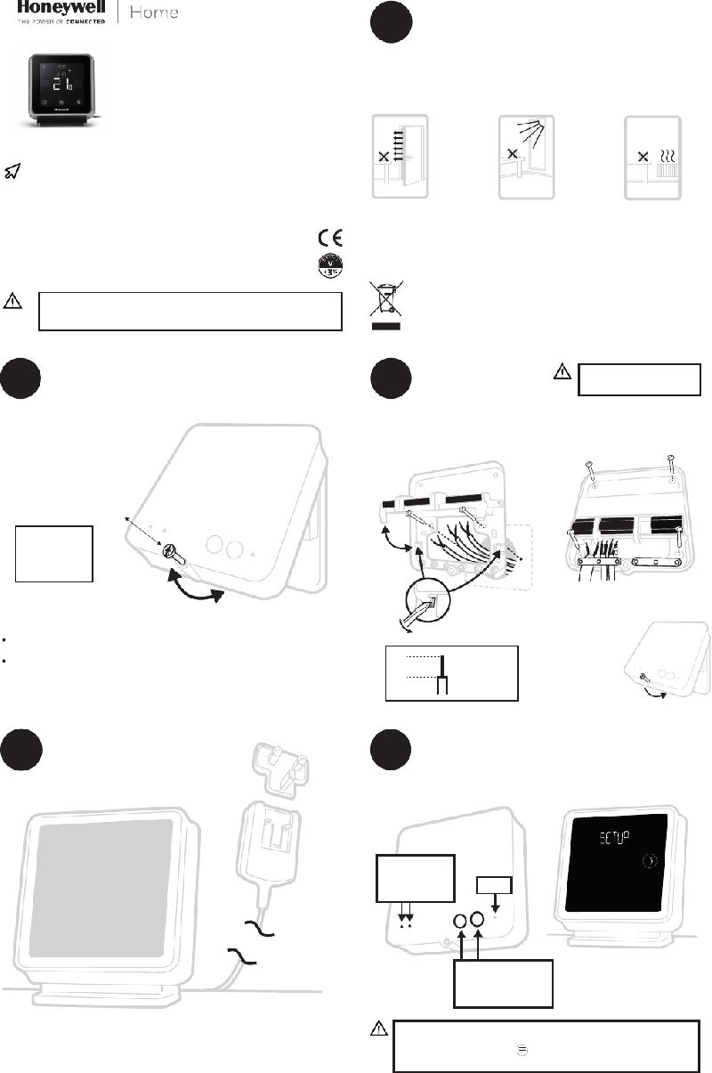 Honeywell T6R-HW Thermostat Operation & user's manual PDF
