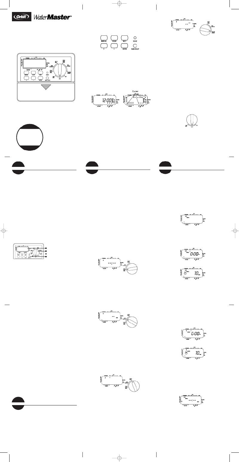 Orbit WaterMaster 94126 Timer Installation manual PDF View