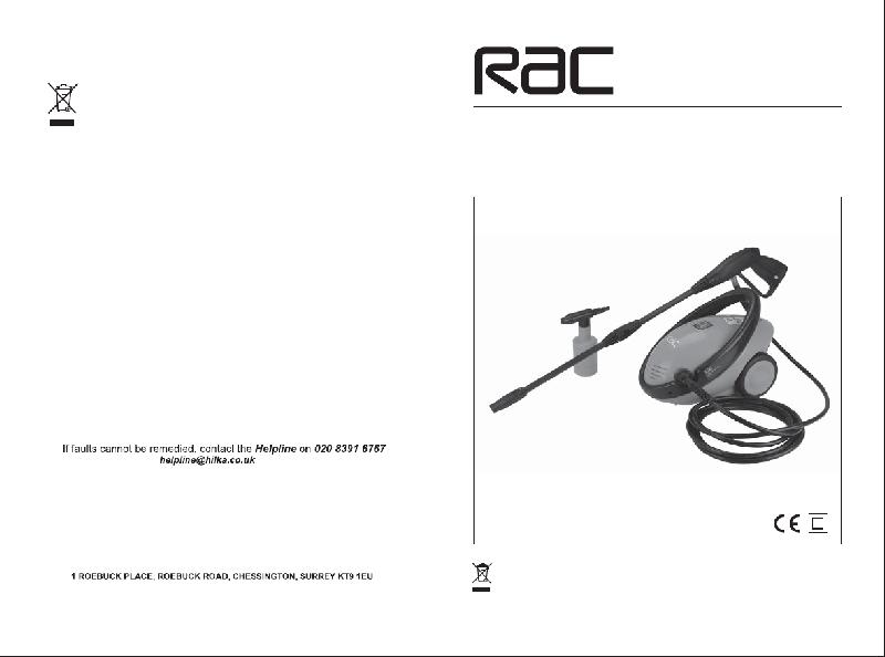 Rac HP094 Pressure Washer Operation & user's manual PDF