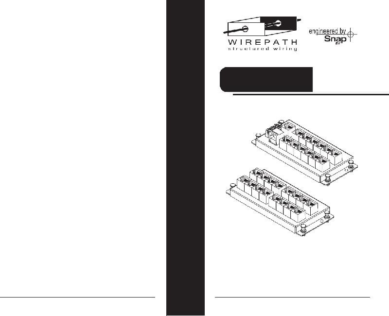 Wirepath WP-MOD-RJ45-TELEP16 Control Unit Installation