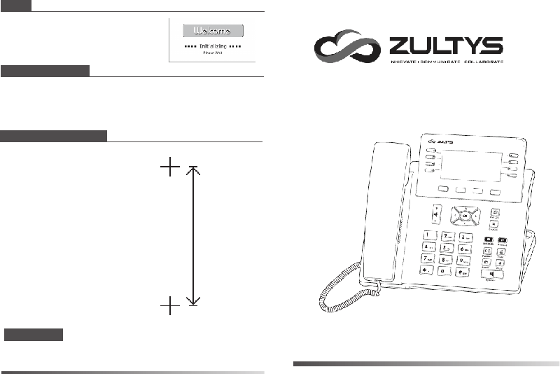 Zultys ZIP 36G Telephone Quick installation manual PDF
