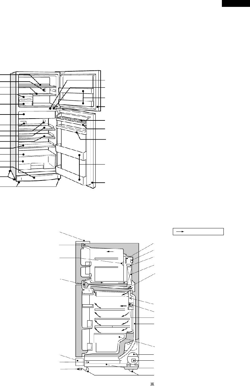 Sharp SJ-K55H-BL Refrigerator Service manual PDF View
