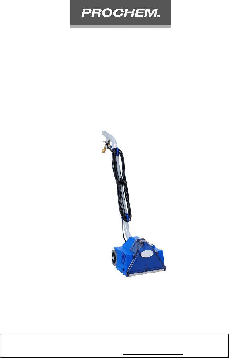 Prochem POWERMATE AC1204 Vacuum Cleaner Operation