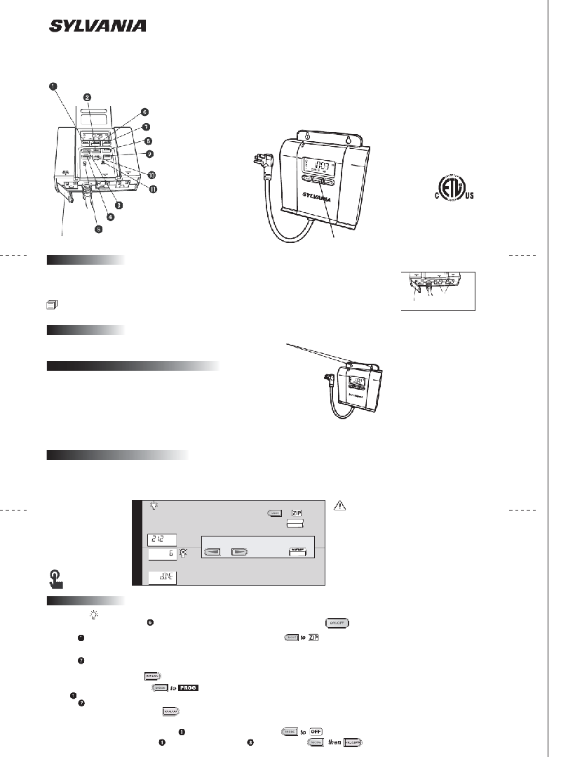 Sylvania SA 210 Timer Operation manual PDF View/Download